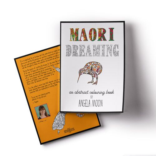 Maori Dreaming Colouring Book Cover